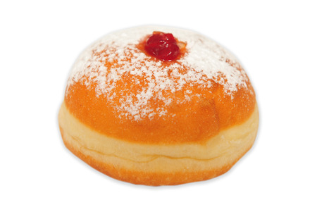 judaical: A doughnut isolated on a white background