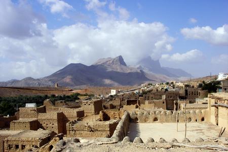 al: Al Hamra Yemen Village in Oman in the Middle East. Stock Photo