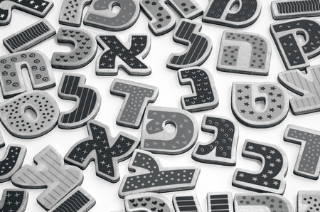 verbs: Hebrew alphabet letters and characters  Stock Photo