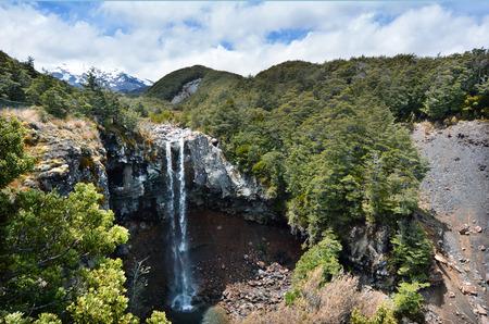 tongariro national park: Mangawhero falls in Tongariro National Park at North Island Volcanic Plateau of New Zealand.