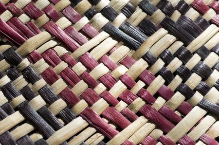 Gewebte Flachs (Nahaufnahme) traditionelle Maori-Kultur Kunstwerk Neuseeland. Standard-Bild