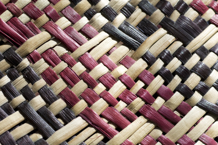 woven surface: Woven flax (close up ) traditional Maori culture artwork New Zealand.