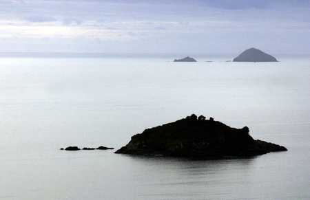 aotearoa: Aerial View of Bay of Islands, New Zealand. Stock Photo