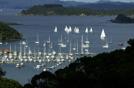 aerial photograph: Aerial photograph of the Bay of Islands, New Zealand.