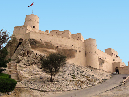 castle wall: Nakhal Fort in Oman.