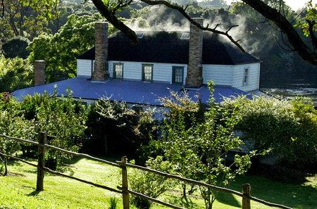 aotearoa: Historic Mission Station Kemp House 1821 - the oldest building in New Zealand, in Kerikeri, Northland, Kerikeri, Far North District, Northland Region, New Zealand NZ. Editorial