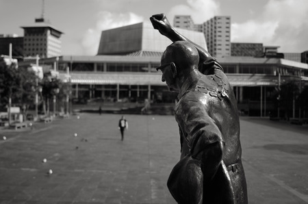 tenure: AUCKLAND - SEP 03 2015:Statue of Sir Dove-Myer Robinson in Aotea Square in Auckland NZL. He was Mayor of Auckland City from 1959 - 1965 and 1968 -1980, the longest tenure of any holder of the office