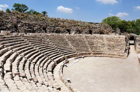 amphitheatre: The amphitheatre in Ancient Beit Shean, Israel.
