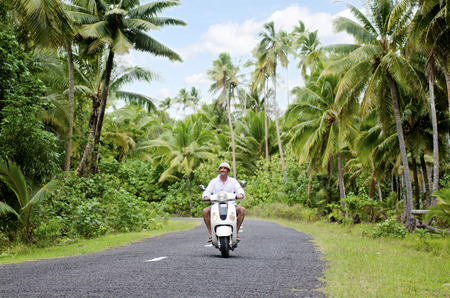 drivers license: Tourist man drives hired motorbike on Sep 20 2013.Its one of the must popular activity in the Island but Cook Islands Drivers License is required to operate a motorized rental. Editorial