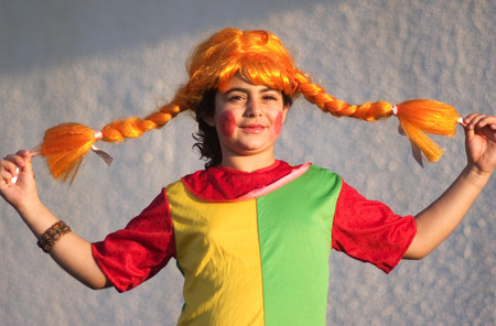 book of esther: Israelis celebrate the Jewish holiday Purim in the streets of Israel. Stock Photo