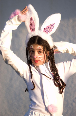 israelis: Israelis celebrate the Jewish holiday Purim in the streets of Israel. Stock Photo