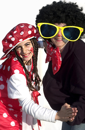 esther: Israelis celebrate the Jewish holiday Purim in the streets of Israel. Stock Photo