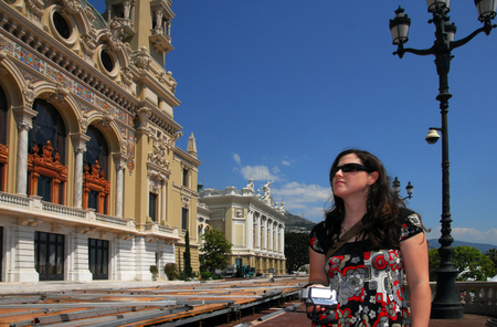 french ethnicity: A woman outside Monte Carlo Casino.