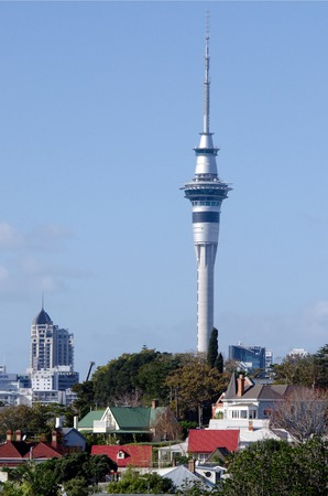 nz: AUCKLAND, NZ - MAY 27:Auckland Sky Tower on May 27 2013.At 328 metres, the Sky Tower is the tallest man-made structure in New Zealand