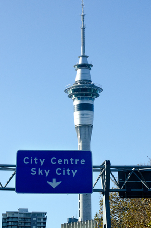 nz: AUCKLAND, NZ - MAY 29:Auckland Sky Tower on May 29 2013.The tower attracts an average of 1,450 visitors per day over 500,000 per year