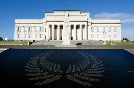 silver fern: AUCKLAND,NZ - MAY 29:Auckland War Memorial Museum on May 29 2013.Its one of New Zealands most important museums and war memorials. Its collections concentrate on New Zealand history.