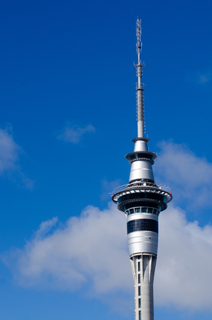 nz: AUCKLAND, NZ - MAY 26:Auckland Sky Tower on May 26 2013.At 328 metres, the Sky Tower is the tallest man-made structure in New Zealand Editorial