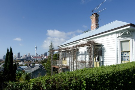 AUCKLAND, NZ - MAY 27:A colonial cotteg in Ponsonby on May 30 2013.House prices are booming around New Zealand - with the average price of an Auckland city home rocketing to $735,692