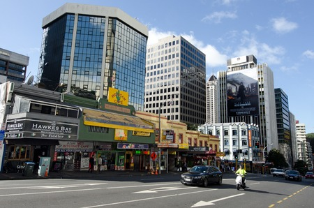 populous: AUCKLAND,NZ - MAY 29:Traffic on Victoria street west on May 29 2013.Its the largest and most populous urban area in NZ and It has 1,397,300 residents, which is 32 percent of the countrys population. Editorial