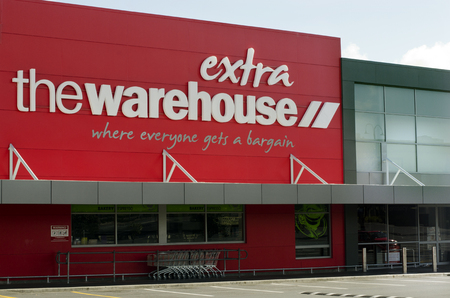 the throughout: AUCKLAND, NZ - APRIL 25:The Warehouse on April 25 2013 in Auckland, New Zealand.Its the largest discount store retailer operating in New Zealand and as of October 2012, the company had 83 stores throughout New Zealand. Editorial
