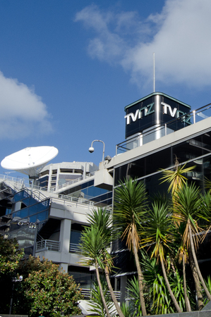 commercial activity: AUCKLAND, NZ - JUNE 02: TVNZ headquarters in Auckland on June 02 2013.Approximately 90 of TVNZs revenue is from commercial activity such as advertising and merchandising.