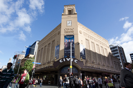 nz: AUCKLAND, NZ  - MAY 29: Auckland Civic Theatre on May 29 2013.First opened on 20 December 1929 and still the largest theatre in New Zealand