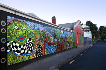 frederick street: KAWAKAWA,NZ-APR 28:A building in Kawakawa,New Zealand inspired by famous Austrian architect Hundertwasser on April 28 2013. Its the only structure he ever built in the southern hemisphere. Editorial