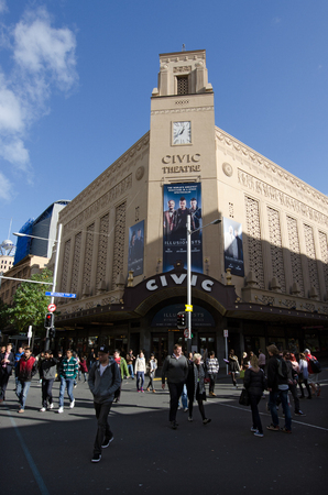 nz: AUCKLAND, NZ  - MAY 29: Auckland Civic Theatre on May 29 2013. Its a large heritage theatre seating 2,378 people in central Auckland, New Zealand.
