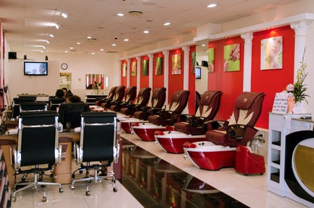 nailpolish: AUCKLAND, NZ - MAY 27:Manicure salon on May 27 2013.Nail manicure is a very ancient activity. There is evidence that even 4,000 years ago it was known to our predecessors.