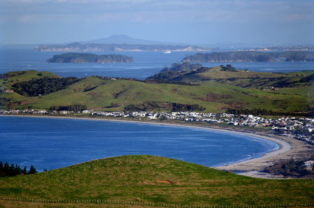 wine country: MATAKANA, NZ - JUNE 02:Aerial view of Matakana Coast Wine Country on June 02 2013.Its Aucklands premier tourist destination for wine, food, coastal beaches, art and crafts and adventure.