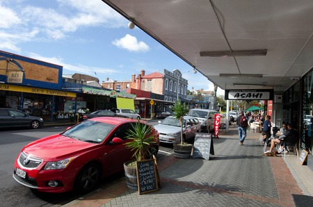 nz: DEVON PORT, NZ - MAY 30:Visitors in Devonport on May 30 2013.The suburb hosts the Naval Base of the Royal NZ Navy but is best known for its charming dining and drinking establishments.