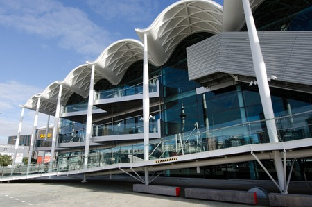 standalone: AUCKLAND, NZ - JUNE 02:Viaduct Events Centre, Auckland on June 02 2013.Its a stand-alone, multi-purpose events centre hosted major events such as Fashion Week, the boat show and Art Fair. Editorial