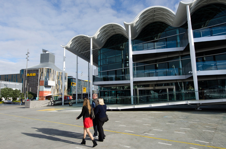 hosted: AUCKLAND, NZ - JUNE 02:Visitors at Viaduct Events Centre, Auckland on June 02 2013.Its a stand-alone, multi-purpose events center hosted major events such as Fashion Week, the boat show and Art Fair.