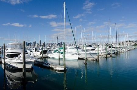 nz: AUCKLAND, NZ - JUNE 02:Boats mooring in Westhaven Marina on June 02 2013.Its owned by Auckland Council, as successor to the Auckland City Council, which bought it from Ports of Auckland in 2004 for NZ$ 46 million.