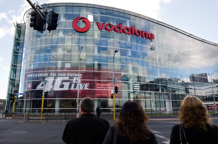nz: AUCKLAND, NZ - JUNE 02:Vodafone headquarters in Auckland on June 02 2013.Its New Zealands largest mobile phone operator that investing millions of dollars in its new 4G network.