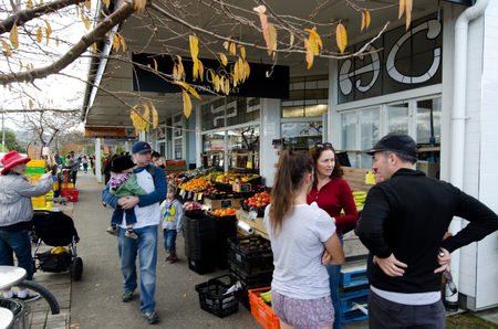 nz: MATAKANA, NZ - JUNE 02:Matakana township on June 02 2013. Its a popular travel destination in NZ known for its farmers market, cinema, cafes, restaurants and boutique food shops. Editorial