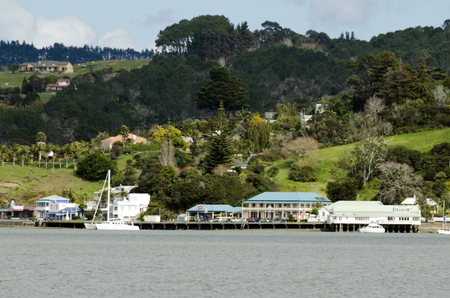nz: MANGONUI, NZ - SEP 01:landscape view of Mangonui village on Sep 01 2013.Its an historic village of one of the oldest European settlements in NZ set in beautiful scenic of Doubtless Bay.