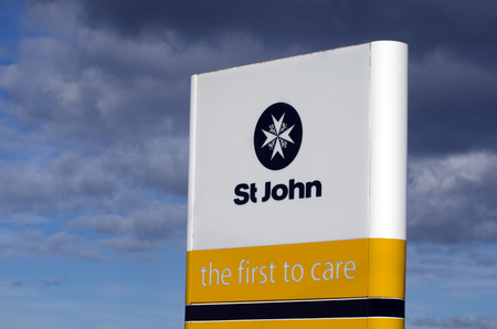 WHANGAREI,NZ - JULY 28:St John New Zealand on July 28 2013. Its a medical first aid and the provision of ambulance services founded in 1877 in the United Kingdom.