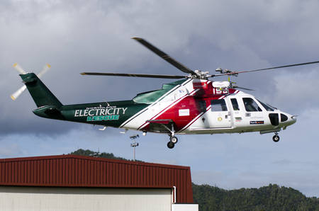 nz: WHANGAREI,NZ - JULY 28:Northland Emergency Services helicopter on July 28 2013.Its the only service in New Zealand using this model of emergency helicopters providing world-class capabilities.