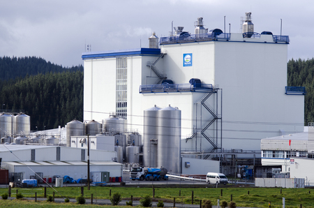 zealand: WHANGAREI,NZ - JULY 28:Fonterra Kauri plant on July 28 2013.Fonterra responsible for 30% of the worlds dairy exports with revenue exceeding NZ$20 billion, is New Zealands largest company.