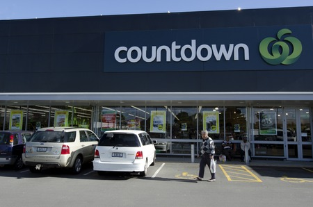 nz: KERIKERI, NZ - AUG 11:Countdown supermarket on Aug 11 2013.Its the flagship brand of Woolworths NZ supermarket subsidiary.Its the nations largest supermarket chain with with over 160 supermarkets.