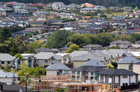 home prices: AUCKLAND,NZ - JAN 11:New Homes on JAN 11 2014.House prices are booming around New Zealand - with the average price of an Auckland city home rocketing to $735,692. Editorial