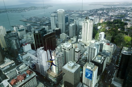 thrilling: AUCKLAND, NZ - OCT 08:Bungee jump off Auckland Sky Tower on Oct 08 2013.SkyJump is one of New Zealands most thrilling tourist attractions and one of those dont miss Auckland's experiences. Editorial