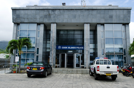 rarotonga: RAROTONGA - SEP 16:Police headquarters on Sep 16 2013.Violent crime is rare, but petty theft is becoming more common, particularly on Rarotonga. The legal system is based on NZ and English common law. Editorial