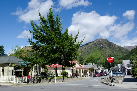 gold mining: ARROWTOWN,NZ - JAN 17:Arrowtown on Jan 17 2014.Its a popular travel destination with well preserved buildings used by European and Chinese immigrants dating from the gold mining days of the town.