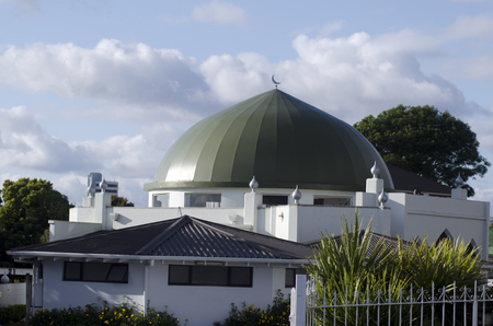 nz: AUCKLAND, NZ - OCT 07:Al Masjid Al Jamie mosque in Ponsonby on Oct 07 2013. Muslim religion in NZ growing, Its estimated that there are approximately 17,000 Muslims. Editorial