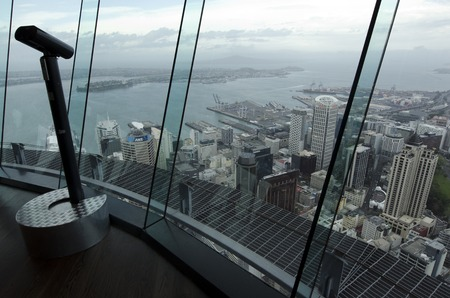 populous: AUCKLAND, NZ - OCT 08:Aerial view of Auckland CBD from the Sky Tower on Oct 08 2013.Its the largest and most populous urban area in all New Zealand with metropolitan population of 1,507,700. Editorial