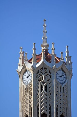 historic place: AUCKLAND - MAY 31 2014 2014:The clock tower of the old arts and commerce building at the University of Auckland.Its historic place (1926), considered an Auckland landmark and icon of the university. Editorial