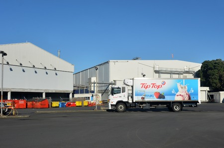 pacific islands: AUCKLAND,NZ - MAY 25 2014:Tip Top Ice cream factory in Auckland New Zealand.The famous Tip Top Ice Cream is exported to Japan, Taiwan, Malaysia, Australia, Indonesia and the Pacific Islands.