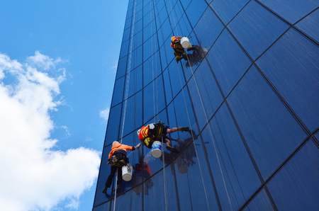 melbourne apr 14 2014window cleaners works on high rise buildingwindow